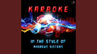 The Woodpecker Song In The Style Of Andrews Sisters Karaoke Version