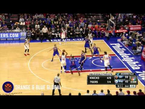Langston Galloway: 11, 7, 4, 2 steals and a block V 76ers - 1/21/15