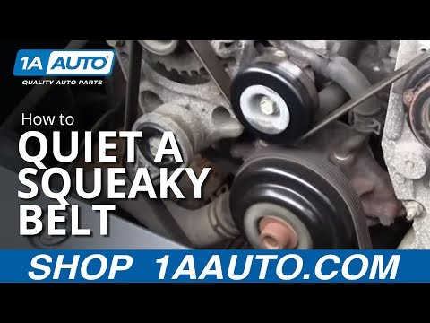 Quiet a Squeaky engine serpentine belt by cleaning. from 1A Auto