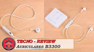 B3300 Auriculares manos libres inalámbricos Bluetooth V4.1 - Android - Mac - PC
