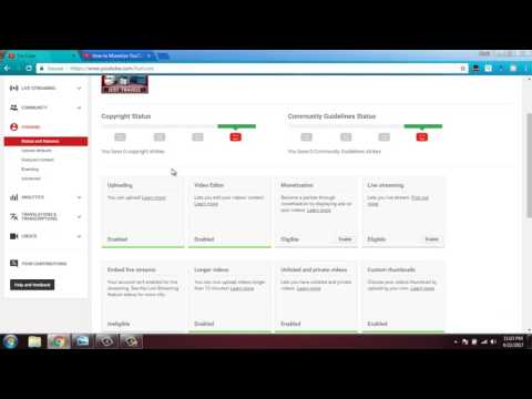 How to turn on Monetization on Youtube  update 2017 !!  10000 views on  google adsense review