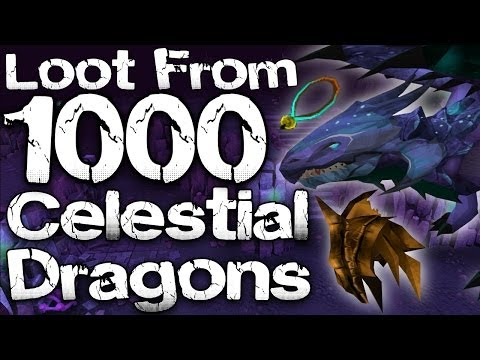 Runescape 3 – Loot From 1000 Celestial Dragons