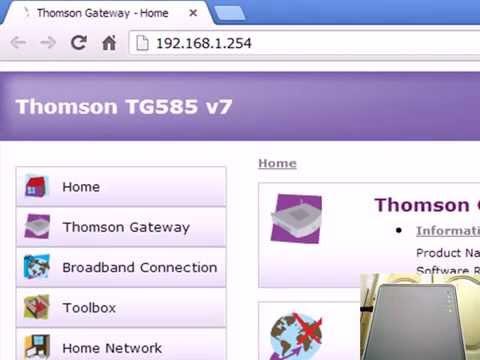 configuration thomson tg585 v7 maroc telecom