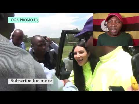 KANYE WEST AND KIMKARDASHIAN WHILE IN UGANDA