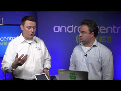 Android Central @ SDC13   Mike Mass, Cisco engineer, demos new software for telecommunications