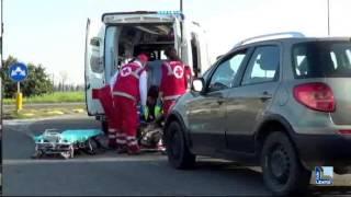 Ciclista travolto da un'auto in strada Agazzana. E' in gravi condizioni