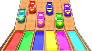 Lightning Mcqueen Inside Magic Water Liquids Colors Learn Video Bonny Kids