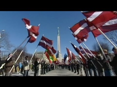 Latvia: Waffen SS veterans' commemorative march in Riga
