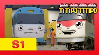 TITIPO S1 EP13 l Can Titipo safely cover for Eric?! l Trains for kids l TITIPO TITIPO