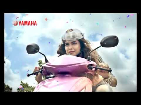 Deepika Padukone in Yamaha ray scooter TVC