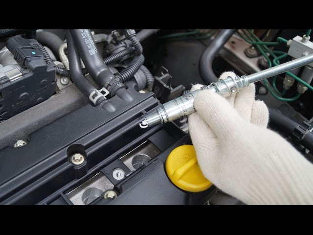 Opel Corsa - Spark Plug Replacement - YouTube