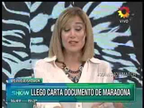 Maradona mandó nuevas cartas documento y consiguió que Verónica Ojeda no pueda mostrar a su hijo en tv.