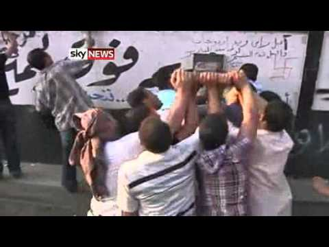 EGYPT: Protesters Attack Israeli Embassy In Cairo - Sept. 10, 2011