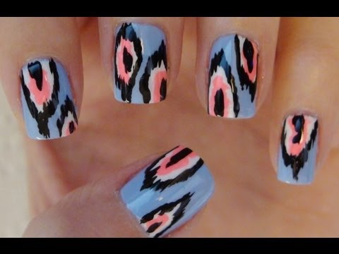 How To: Ikat Print Nails!!!