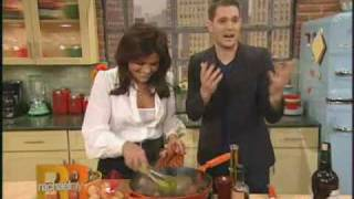 "Michael Buble Video - Michael Buble & Rachael Ray's (2009) Spanich ""Tapas"" for Luisana"