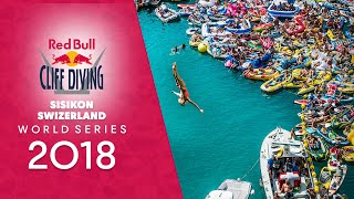 Red Bull Cliff Diving World Series 2018 goes to Sisikon, Switzerland.