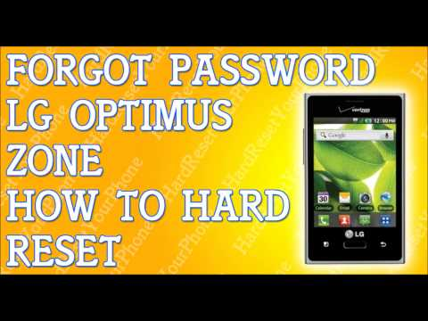 Forgot Password LG Optimus Zone How To Hard Reset