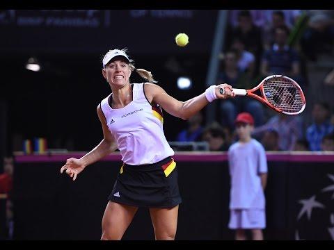 Highlights: Simona Halep (ROU) v Angelique Kerber (GER)