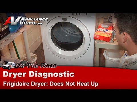 Frigidaire .Electrolux  Dryer Diagnostic - not heat & not drying clothes - FAQE7011KWO