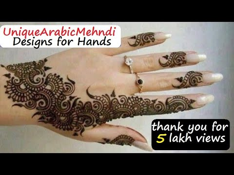 Arabic Mehandi Designs For Your Hands - Arabic Mehndi Pictures video