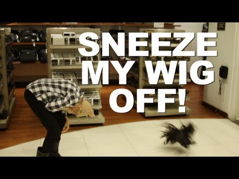 Sneeze My Wig Off Prank
