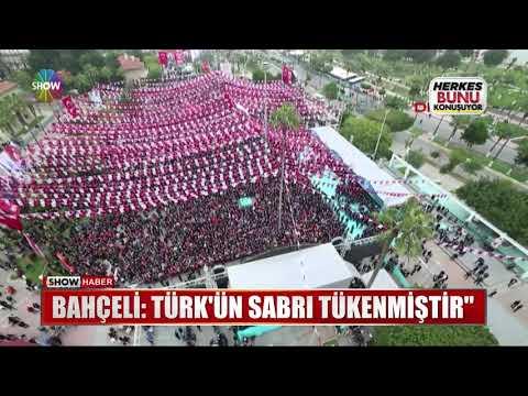 """Bahçeli: Türk'ün sabrı tükenmiştir"""""""