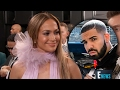 Jennifer Lopez Gets AWKWARD When Ryan Seacrest GRILLS Her About Drake On 2017 Grammys Carpet -