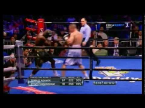 Tomasz Adamek vs Steve Cunningham II WALKA Fight 7 Round 22-12-2012 Boxing