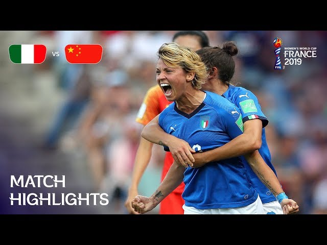 Italy v China PR - FIFA Womenвs World Cup France 2019в