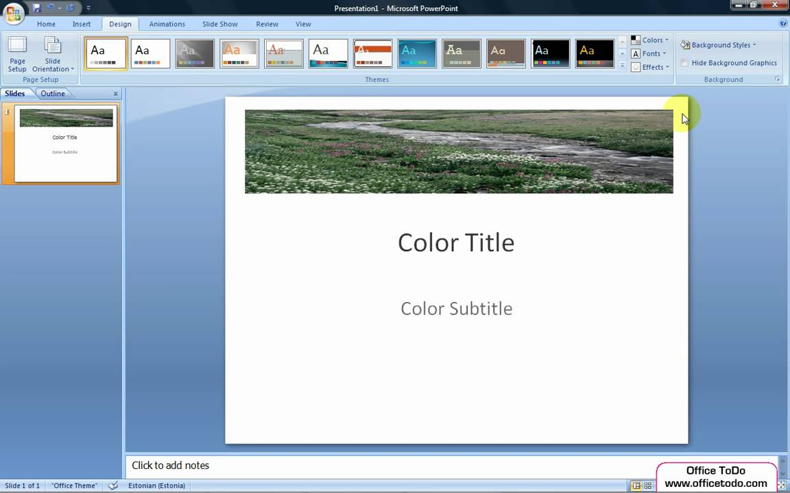How Do I Make A Powerpoint Template