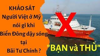 """🔥Người Việt ở Mỹ nói gì khi Biển Đông dậy sóng tại Bãi Tư Chính"""" ?"""