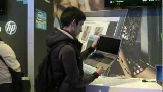 Intel's gamers and ultrabooks booth at CeBIT 2012