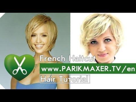 How To Have Hair Like Jessica Alba. French Haircut Tutorail. Olga Dikaja. parikmaxer tv engl