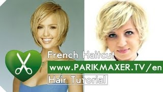 How To Have Hair Like Jessica Alba. French Haircut Tutorail parikmaxer tv engl