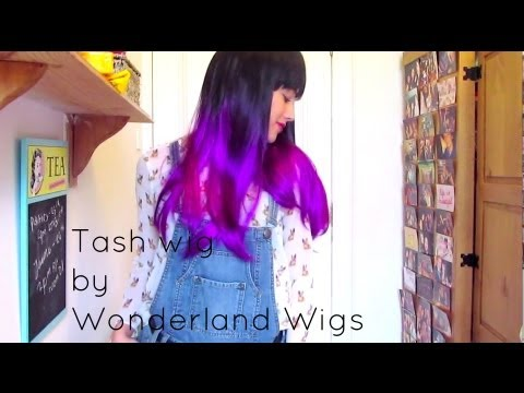 Tash wig by Wonderland Wigs | Black to Purple Dip Dye Wig