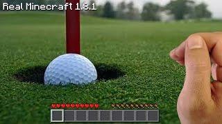 Real Life Minecraft - GOLF CHALLENGE!!
