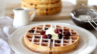Belgian Waffle Recipe | How to Make Waffles