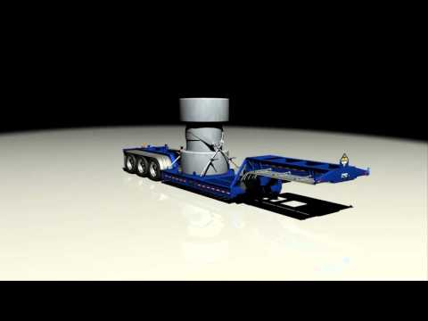 BWS Nuclear Waste Hauler 3D model turntable