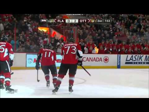 Kyle Turris Scores his second of the night (FLA-OTT, jan 21) HD