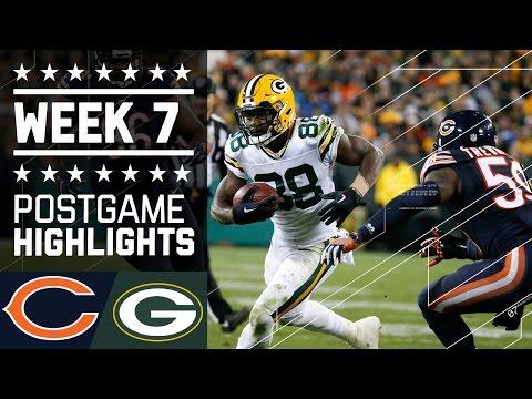 Bears Vs Packers Nfl Week 7 Game Highlights