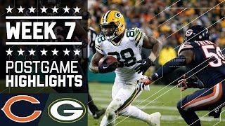 Bears vs. Packers | NFL Week 7 Game Highlights