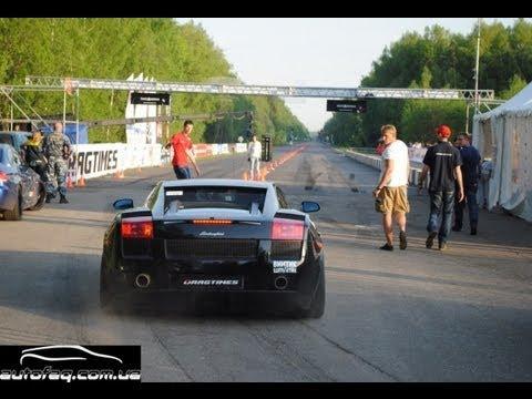 22.2 sec 1 mile NEW RECORD !!! 395 kmh Lamborghini Gallardo Nera UR TT 1500hp