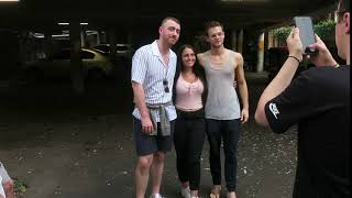 Sam Smith And Brandon Flynn Meeting Fans In Sydney Australia