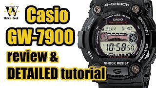 Casio GW 7900 - module 3193 & 3200 -review & tutorial on how to set up and use all the functions
