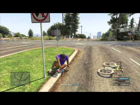 GTA V - Grand Theft Auto 5 - 1st Place Triathlon! 30 Real World Minutes!