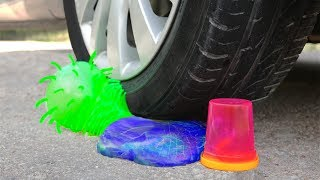 CAR vs SLIME: Crushing Crunchy & Soft Things with Car!
