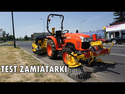 Zamiatarka I Odchwaszczarka RABAUD Oraz Ciągnik KUBOTA L1361 - Pokaz Pracy | GRAVIT Lublin
