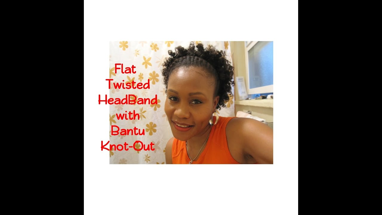 Flat Twisted Head Band W Bantu Knot Out Short Natural