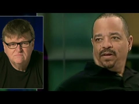 Filmmaker Michael Moore talks about gun control, and he responds to comments made by Ice T and Mayor Michael Bloomberg.