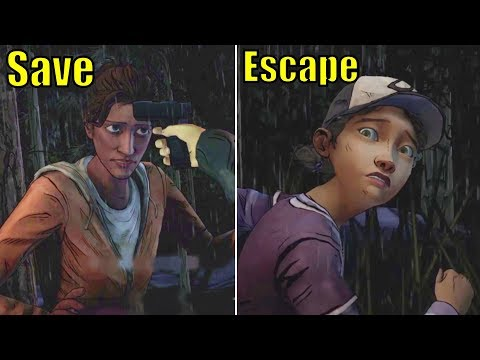 Clem Run Away vs Saves Christa From the Scavengers -All Choices- The Walking Dead